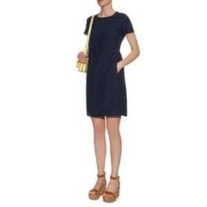 'S Max Mara Navy Blue Short Sleeve w/ Pockets Dress